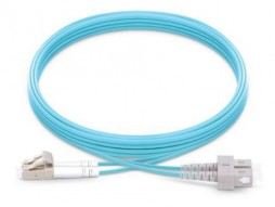 LC - SC OM4 Multimode LSZH Fiber Patch Cord