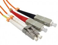 LC-SC OM2 Multimode Fiber Optic Patch Cord