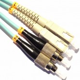 SC-FC OM3 Multimode Fiber Optic Patch Cord