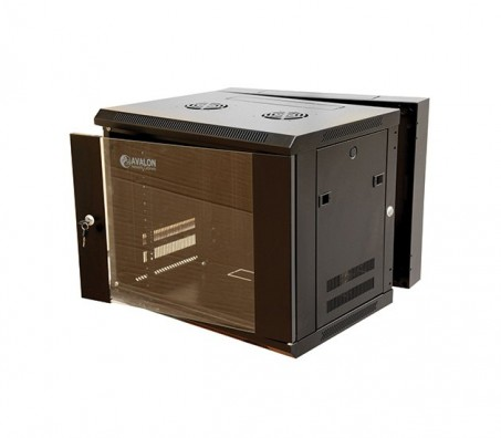 18U x 600(W) x 550(D)-Wall Mount-Double Section Cabinet + Fan