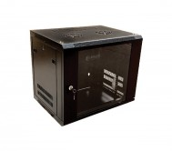 15U x 600(W) x 450(D)-Wall Mount-Single Section Cabinet + Fan