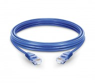 CAT.6 UTP PATCH CORD BLUE - 0.5 MTR