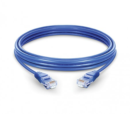 CAT.6A UTP Patch Cord Blue - 1 Mtr