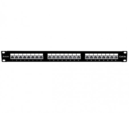 CAT.5e Shielded 24 Port Patch Panel