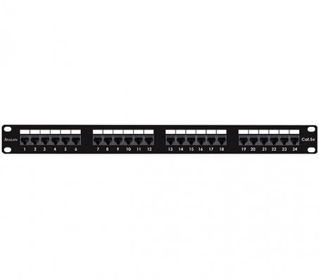 CAT.5e Unshielded 24 Port Patch Panel