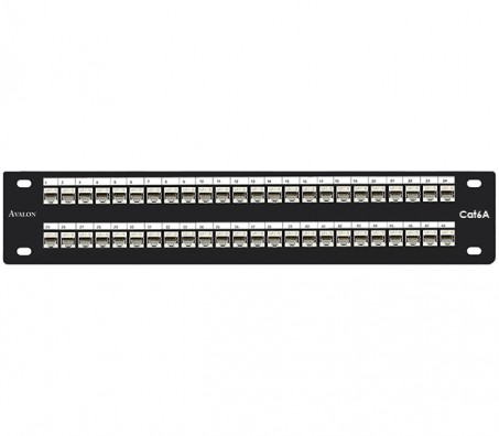 CAT.6A Shielded 48 Port Patch Panel