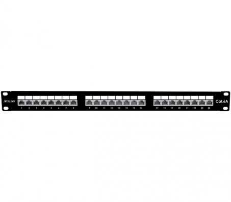 CAT.6A Shielded 24 Port Patch Panel