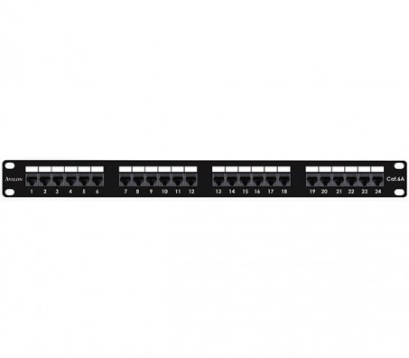 CAT.6A Unshielded 24 Port Patch Panel