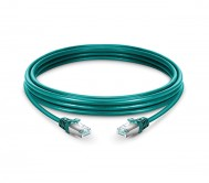 CAT.6 STP Patch Cord Green - 1 Mtr