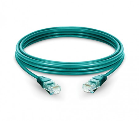 CAT.6A UTP Patch Cord Green - 1 Mtr