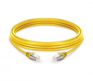 CAT.6 STP Patch Cord Yellow - 1 Mtr