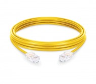 CAT.6A UTP Patch Cord Yellow - 1 Mtr