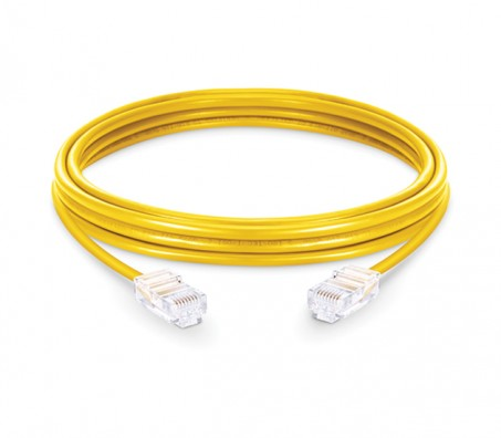 CAT.5e UTP Patch Cord Yellow - 3 Mtr